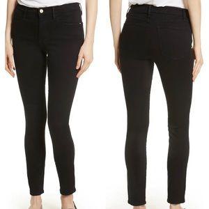 Frame Denim Le High Skinny Black Jeans